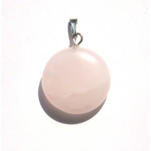 """Кулон из розового кварца """"Монетка"""""""