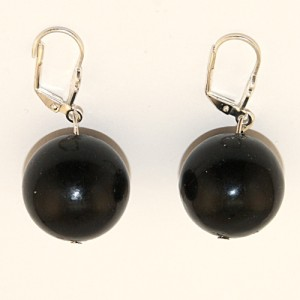 """Сережки из агата """"Черные шары"""""""