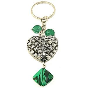 """Брелок в форме сердца """"Зеленая любовь"""""""