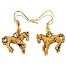 """Сережки в форме лошади """"Златоглавая лошадка"""""""