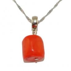 "Кулон из оранжевого коралла ""Средиземноморский коралл"""