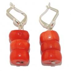 "Сережки из оранжевого коралла ""Средиземноморский коралл"""