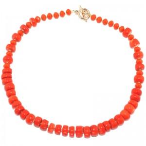 """Бусы из оранжевого коралла  """"Манговый ноктюрн"""""""