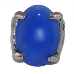 """Кольцо из муранского стекла """"Голубые акварели"""""""