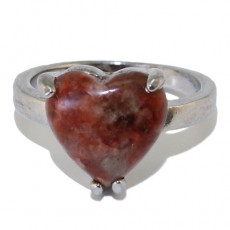 """Кольцо из красной яшмы """"Яспис сердца"""""""