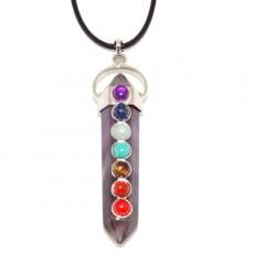 """Кулон семь чакр """"Духовно-энергетический кристалл"""""""
