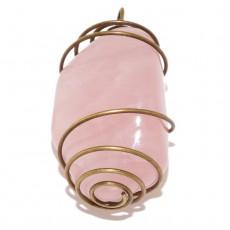 """Кулон из розового кварца """"Розовый винтаж"""""""