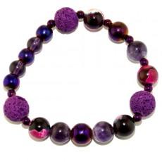 """Браслет самоцветы фиолетовой энергии  """"Духовная эволюция"""""""