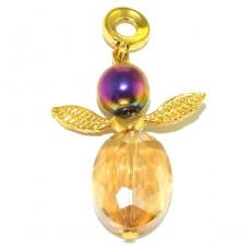 "Кулон в форме ангела ""Золотистый ангел"""