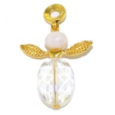 """Кулон с кристаллами """" Кристальный ангел"""""""