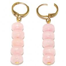 """Сережки с розового кварца """"Розовая нежность"""""""
