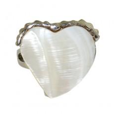 """Кольцо с перламутра """"Перламутровое сердце"""""""