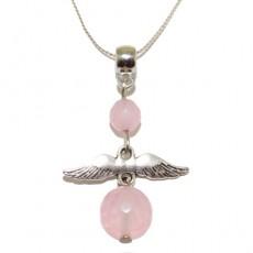 """Кулон из розового кварца """"Нежный ангел"""""""