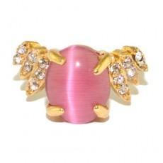 """Кольцо под золото """"Розовая акварель"""""""