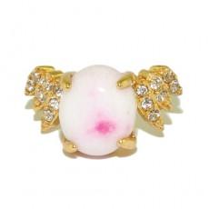 """Кольцо под золото """"Розовый нектар"""""""