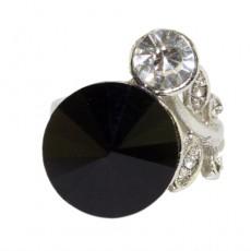 """Кольцо с венецианского стекла """"Черные глаза"""""""