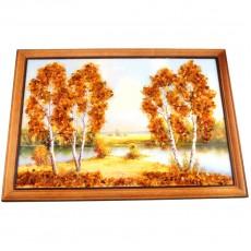 """Картина с янтарем """"Янтарная осень"""""""