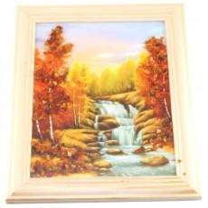 "Картина с янтарем ""Янтарный водопад"""