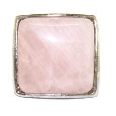 """Кольцо из розового кварца """"Кварцевая печатка"""""""