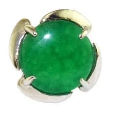 """Кольцо с хризопраза """"Зелёная планета"""""""