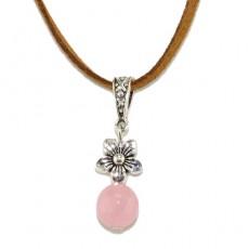 "Кулон из розового кварца ""Цветок любви"""