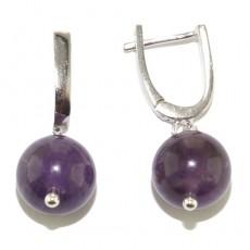 """Сережки серебро 925 с аметистом """"Духовные вибрации"""""""
