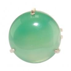 """Кольцо из зеленого агата """"Зелёные берега"""""""