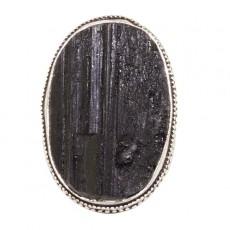 """Кольцо из черного турмалина """"Турмалиновый перстень"""""""