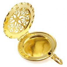 """Кулон с секретом """"Золотистый медальон"""""""