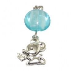 """Подвеска на ключи или сумку """"Голубая мышка"""""""