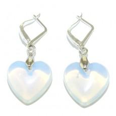 """Сережки из лунного камня """"Лунное сердце"""""""