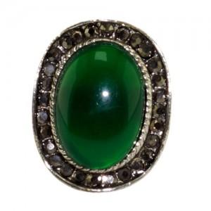 """Кольцо из хризопраза """"Изумрудная зелень"""""""