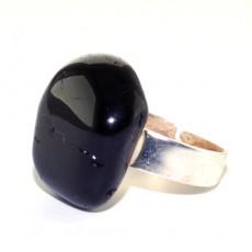 """Кольцо с чёрным турмалином """" Кольцо шерл"""""""