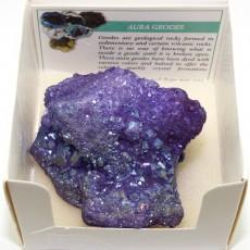 """Камень минерал жеода кварца """"Фиолетовая жеода"""""""