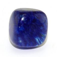 "Кольцо с синим кварцем ""Можжевеловый кварц"""