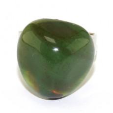 """Кольцо с зелёным агатом""""Раскрытие потенциала"""""""