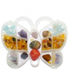 """Комплект камней в подарочной коробочке """"Самоцветная бабочка"""""""