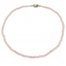 Бусы из граненного розового кварца шарик 4 мм