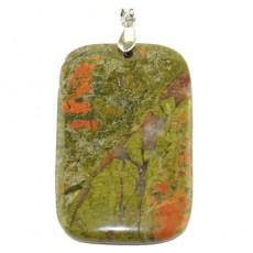 Кулон из крупного натурального камня унакит
